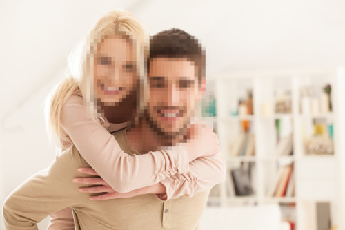 Image with faces blurred