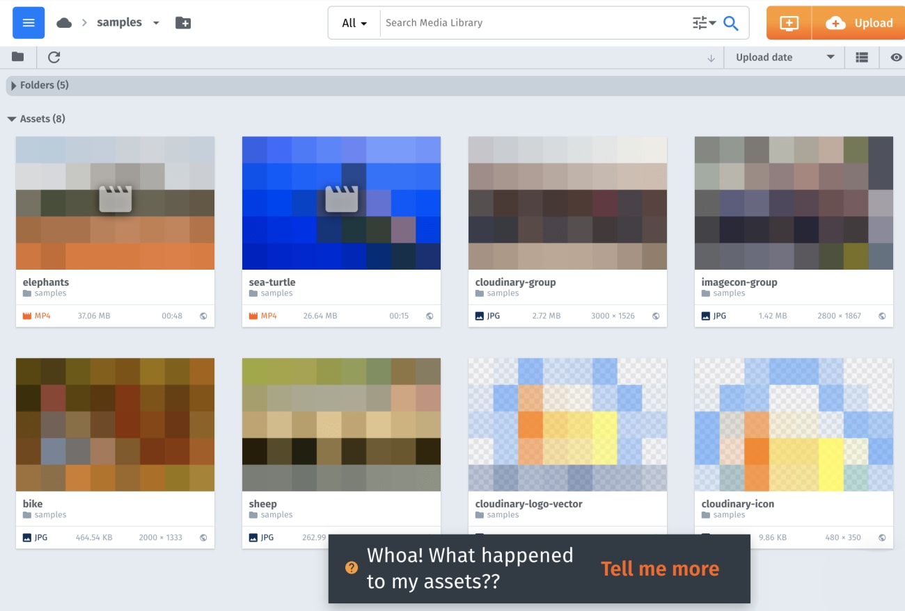Pixelated images and videos in the Media Library