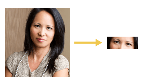 Example of Cloudinary's Advanced Facial Detection Add-on to Center Image on Eyes