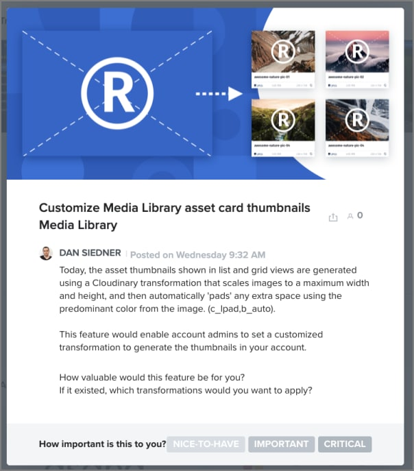 Conditional transformation thumbnails Media Library