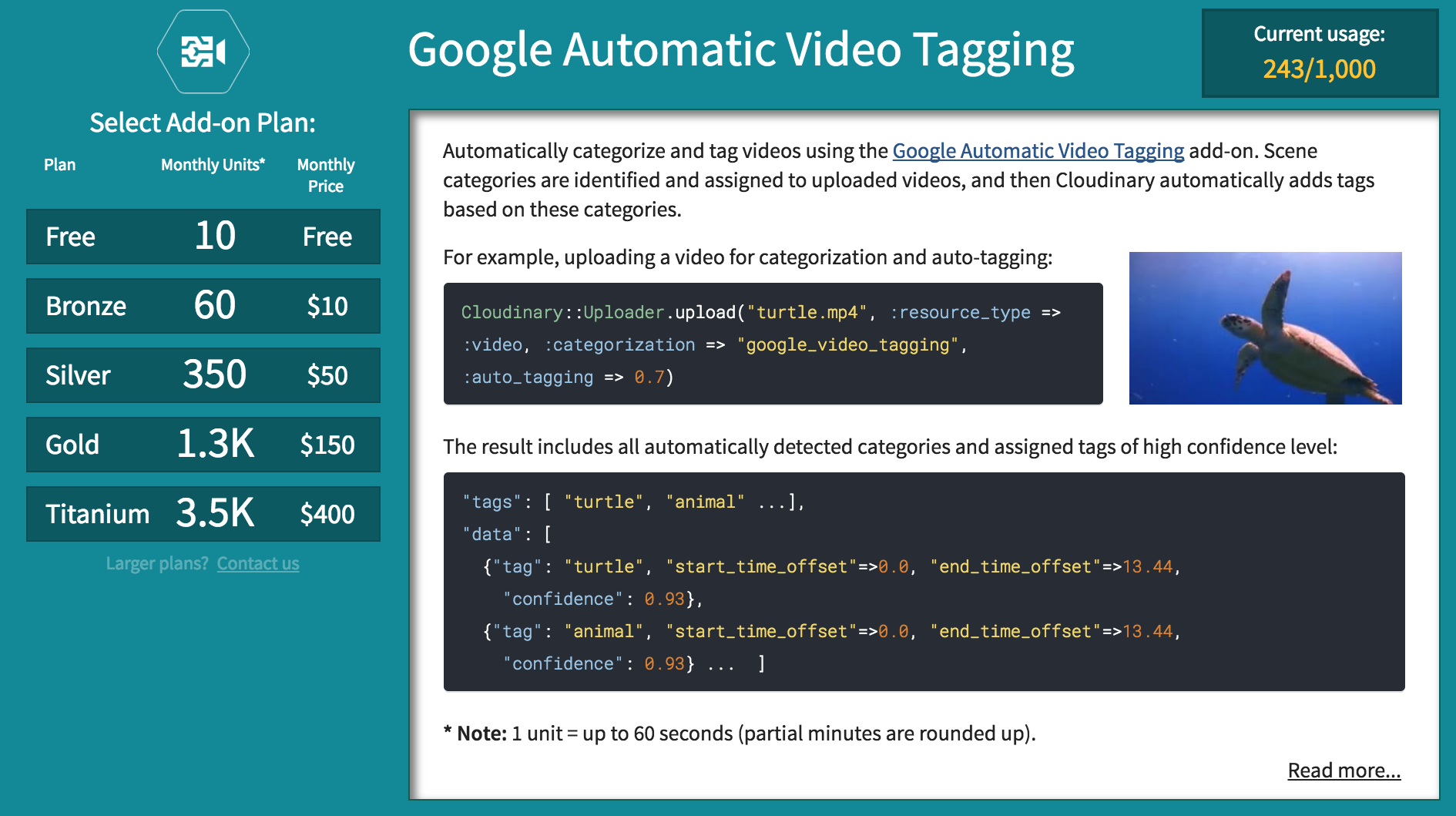 video tagging
