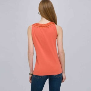 Back view of coral top