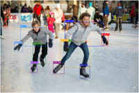 Ice skating with cld-fashion bounding boxes