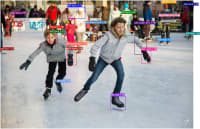 Ice skating with human-anatomy bounding boxes