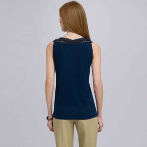 Back view of navy top