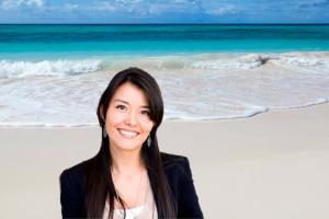 No background + beach scene
