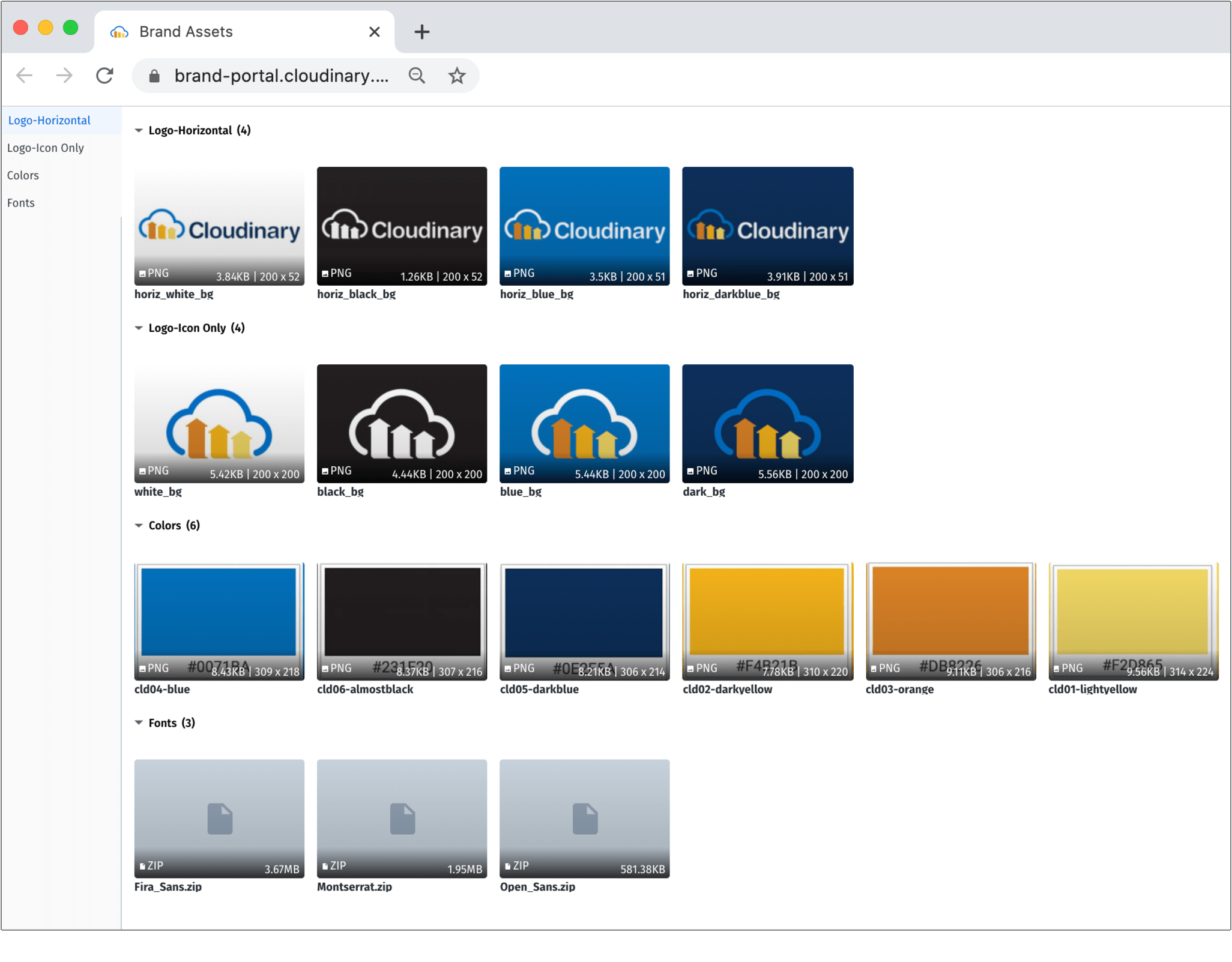 Brand Portal Example