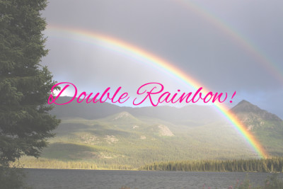 Double rainbow custom fonts