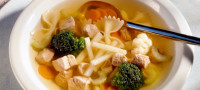 Vegetable soup cropped with Imagga