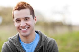Uploaded smiling man photo
