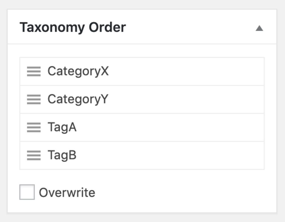 Taxonomies