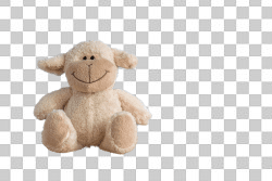 Stuffed Sheep With No Background