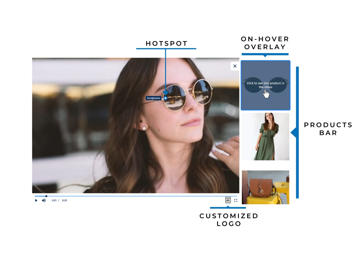 Shoppable Video features