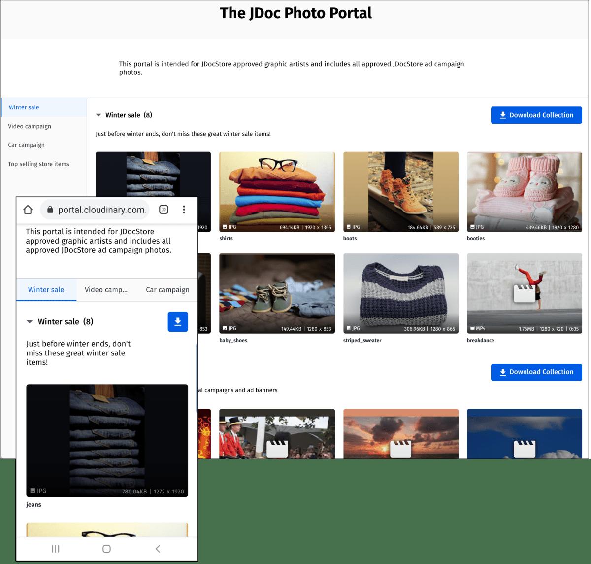 Media portal example