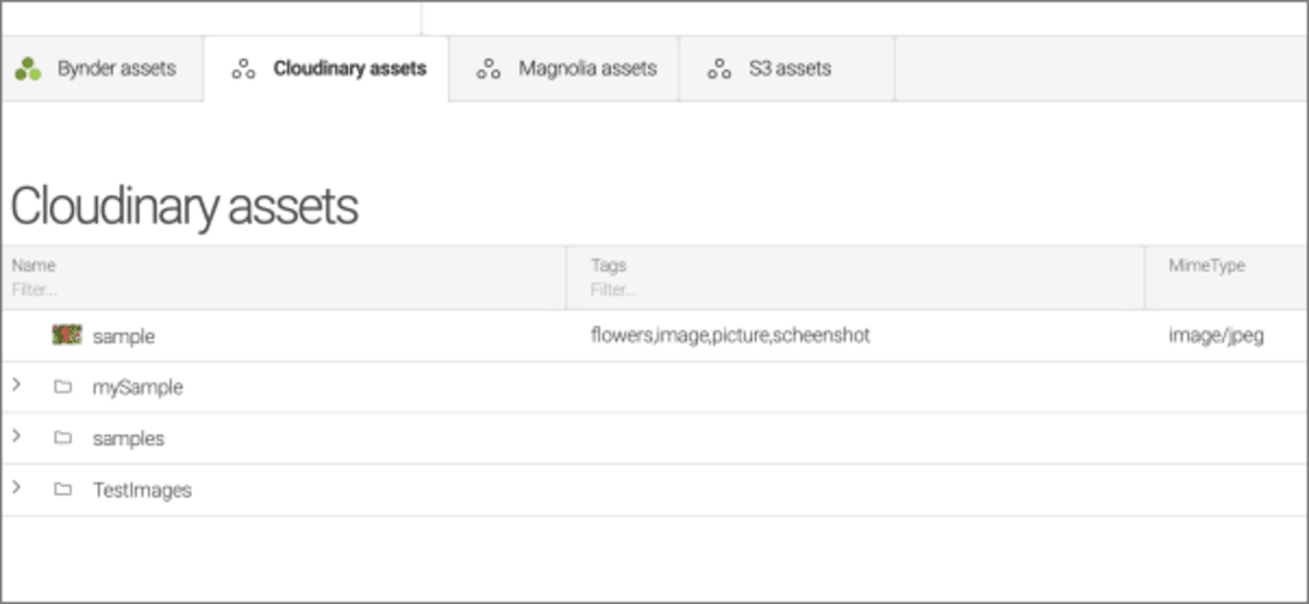 Magnolia assets app with Cloudinary