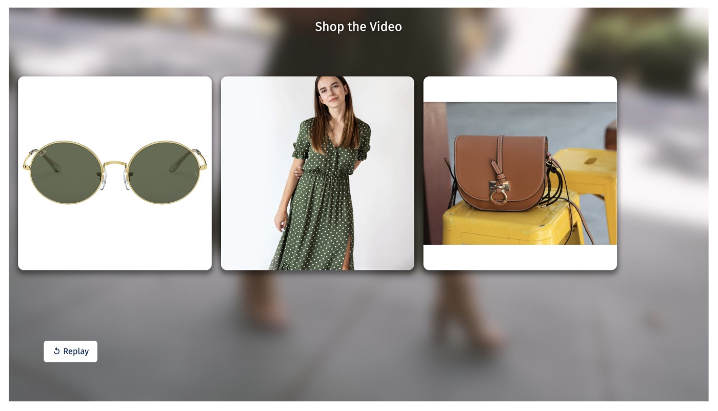 Shoppable Post-Roll Gallery