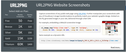 URL2PNG Add-on
