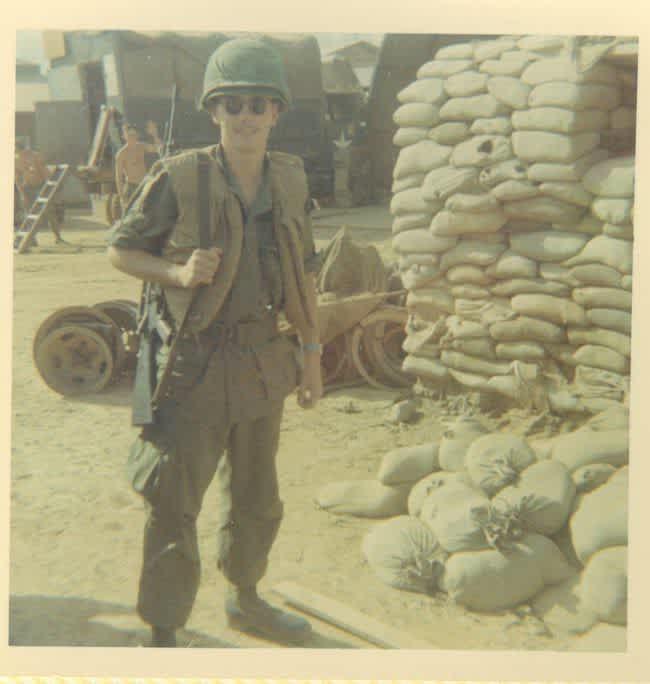 David Markham serving in Vietnam