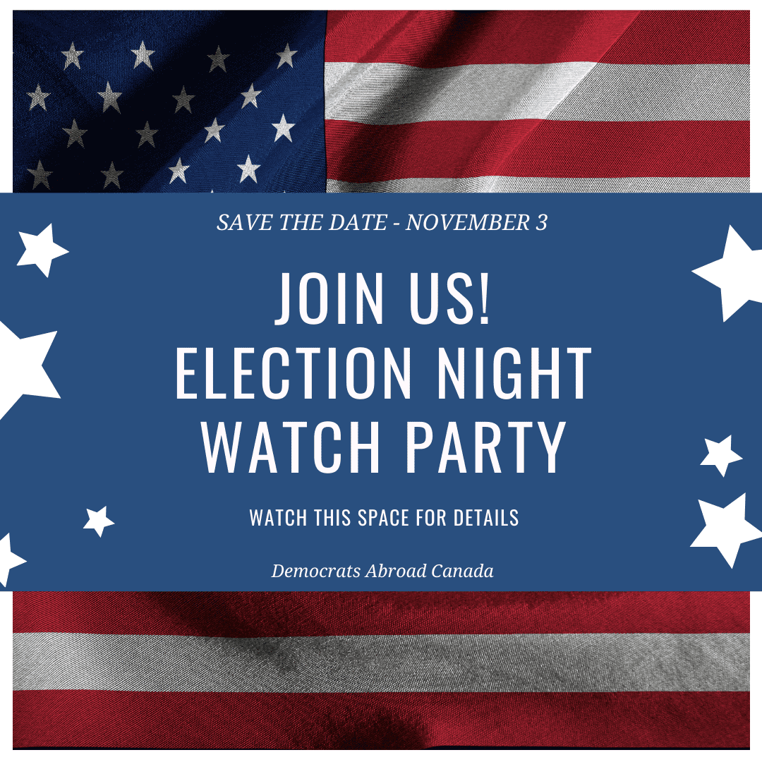 Save the Date - Canada Election Night Watch Party