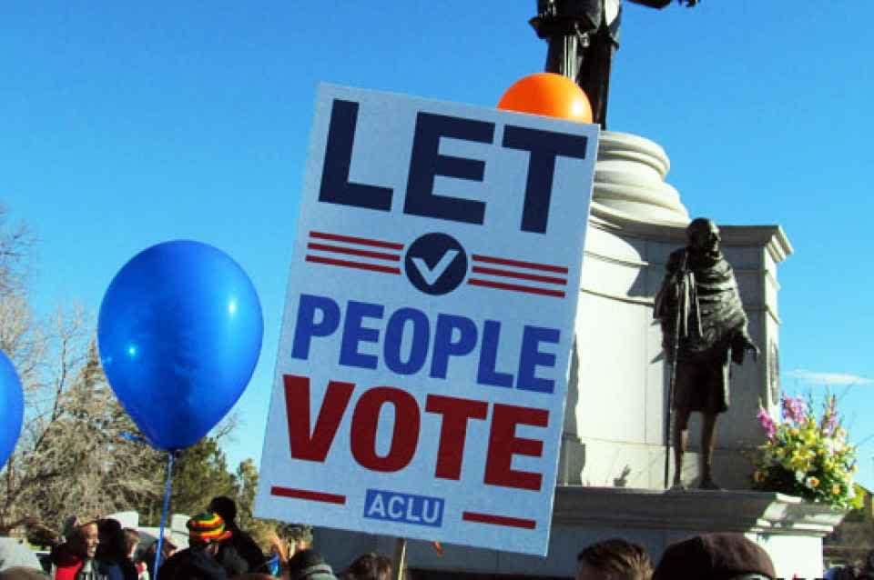 Let People Vote - ACLU sign