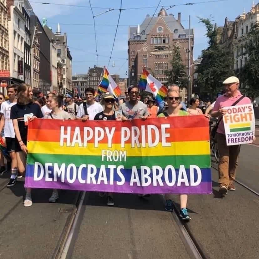 Members of DANL walk in the Pride Walk 2020