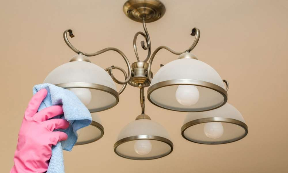 How to clean chandeliers on high ceiling