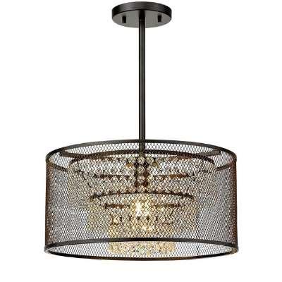 Industrial crystal chandelier
