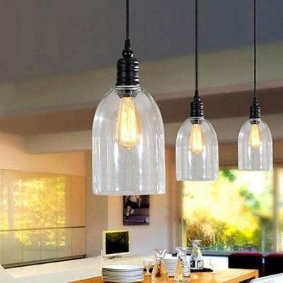 Glass pendants light for kitchen island