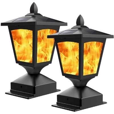 Solar Post Light Outdoor Post Cap Light