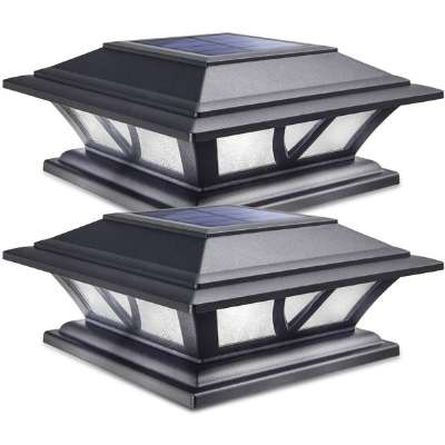Solar Post Lights Outdoor Deck Fence Cap Light