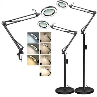 Magnifying Floor Lamp with Clamp