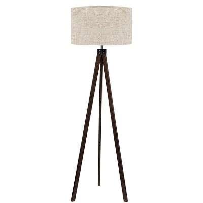 Retro Wooden Floor Lamp