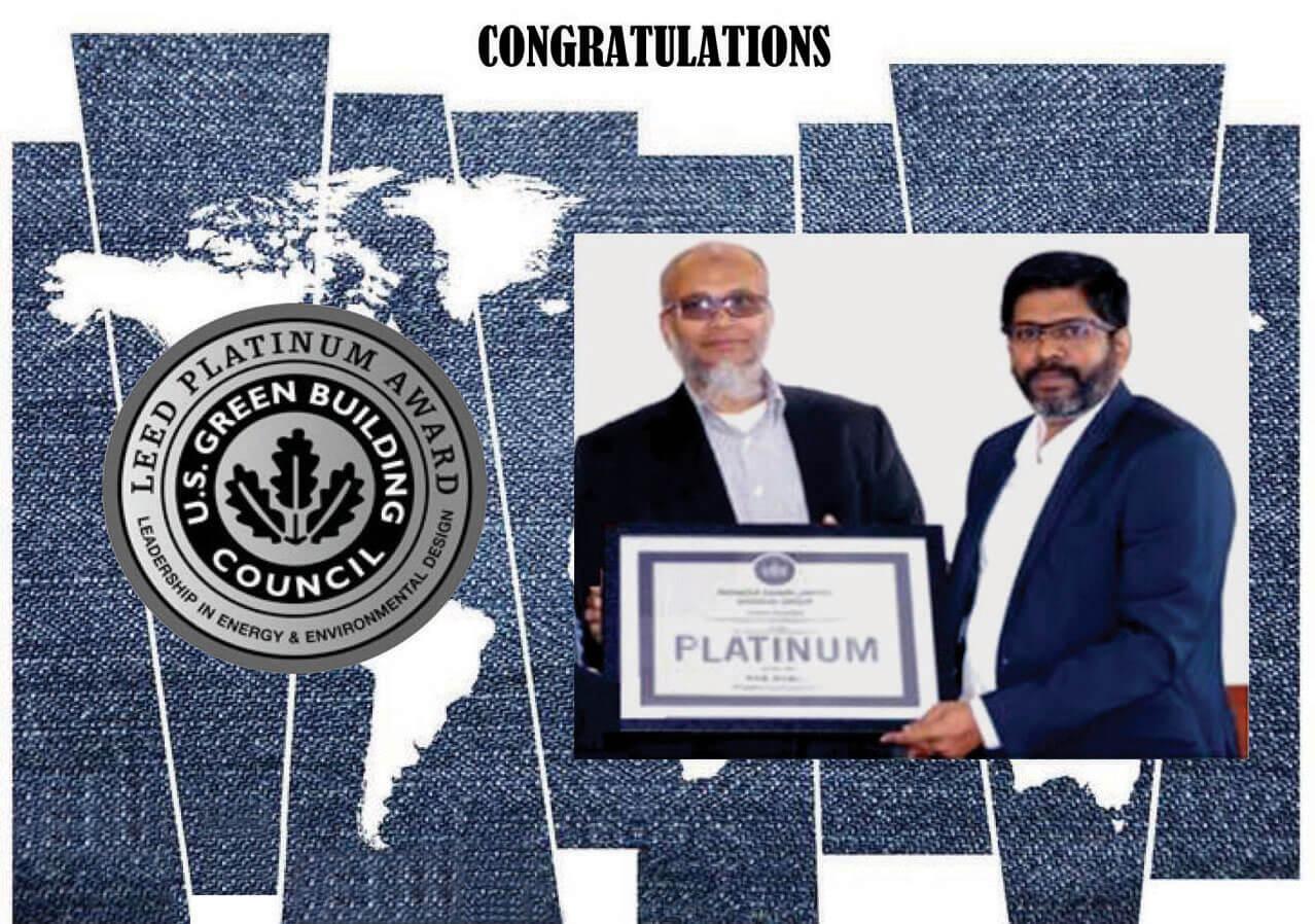 Pioneer Denim Limited awarded LEED Platinum Certification