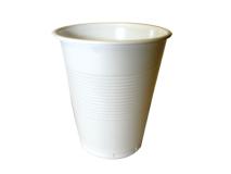 Drinkbekers plastiek wit 150ml H=80mm  img