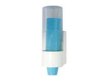 Crosstex plastic cup dispenser white (with clear top) img