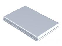 Aluminium anodisé couvercle gris  (Format 28 x 18 x 1,9 cm) img