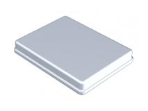 Aluminium anodisé couvercle gris  (Format 18 x 14 x 1,9 cm) img