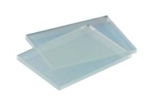 Glasplaat klein glad/mat 95x70mm  img