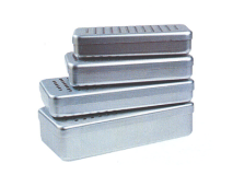 Alu perforated boxes grey (Size17 x 7 x 3 cm) img