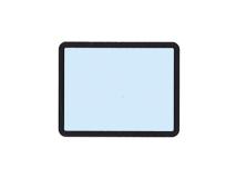 beschermhoesjes voor fosforplaat met frame 31 x 41 mm img