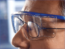 Hager iSpec® Fit OTG Lunettes de protection, bleu img