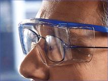 Hager iSpec® Fit OTG Beschermbril, blauw img