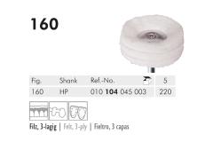160 HP 220 polijstborstel (felt, 3-ply) img