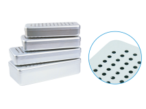 Alu perforated boxes grey (Size18 x 9 x 3 cm) img
