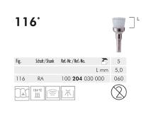 116 RA 060 polijstborstel (hard nylon bristles, white) img