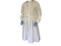 Tablier lavable en PU blanc img