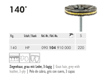 140 HP 220 brosse à polir (Goat hair, grey with leather, 3-ply) img
