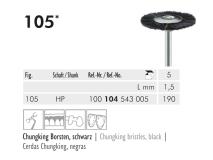 105 HP 190 polijstborstel (chungking bristles, black) img