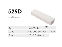 529 D pierre à aiguiser 75 x 25 x 8 mm img