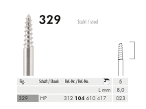 329 HP 023 mandrels for flexible polishers and felt-cones img